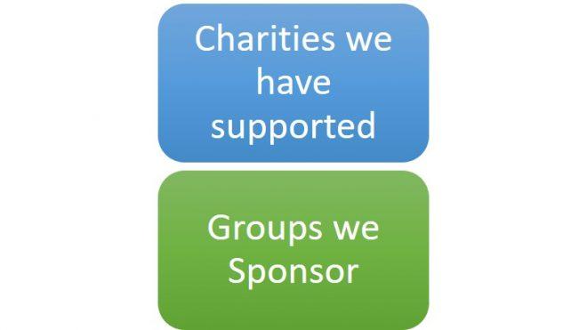 Sponsorship & Charities