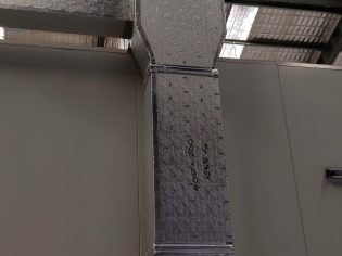 Lightweight ALP ductwork riser from low level extraction point