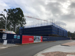 UOW Western Building Progress
